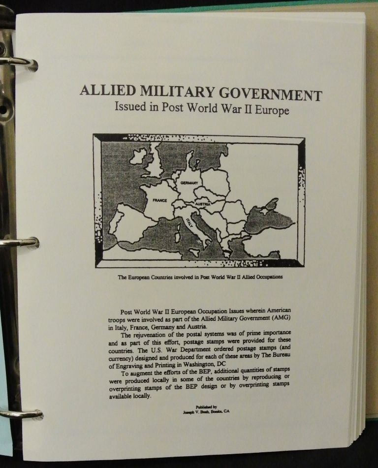 Allied Military Government Issues Europe Album w/Stamps