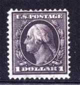 U.S. Scott 342 F-VF Used $1 Washington SCV.$100