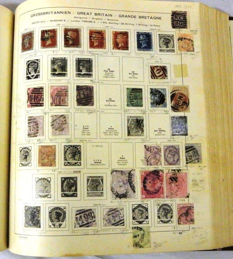 Worldwide Stamp Collection in a Schaubek Album to 1943