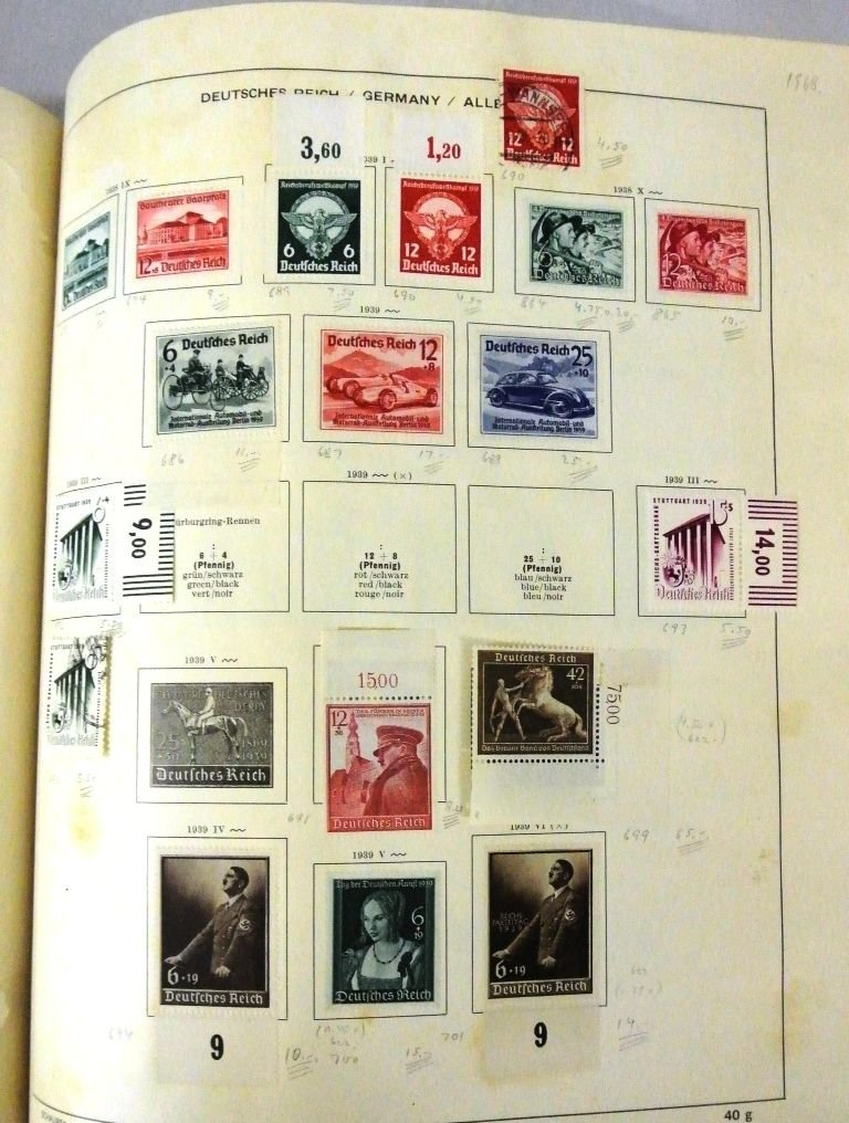 Worldwide Stamp Collection in a Schaubek Album to 1943 - 2