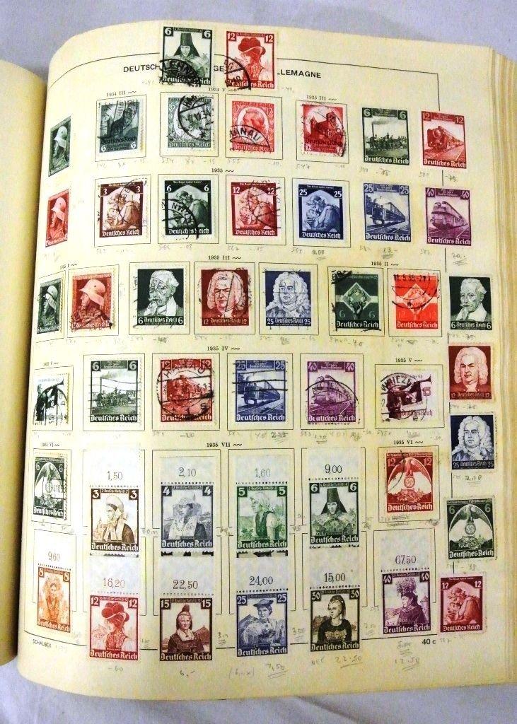 Worldwide Stamp Collection in a Schaubek Album to 1943 - 3