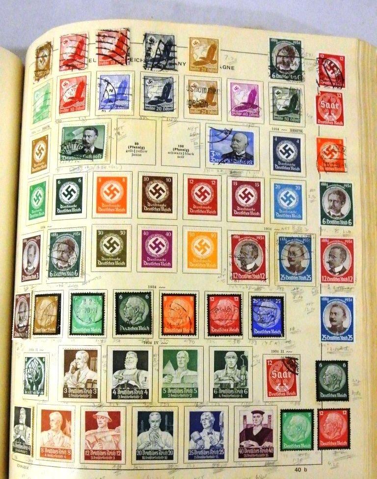 Worldwide Stamp Collection in a Schaubek Album to 1943 - 4