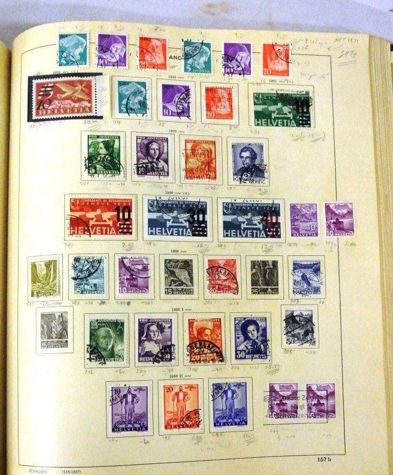 Worldwide Stamp Collection in a Schaubek Album to 1943 - 5