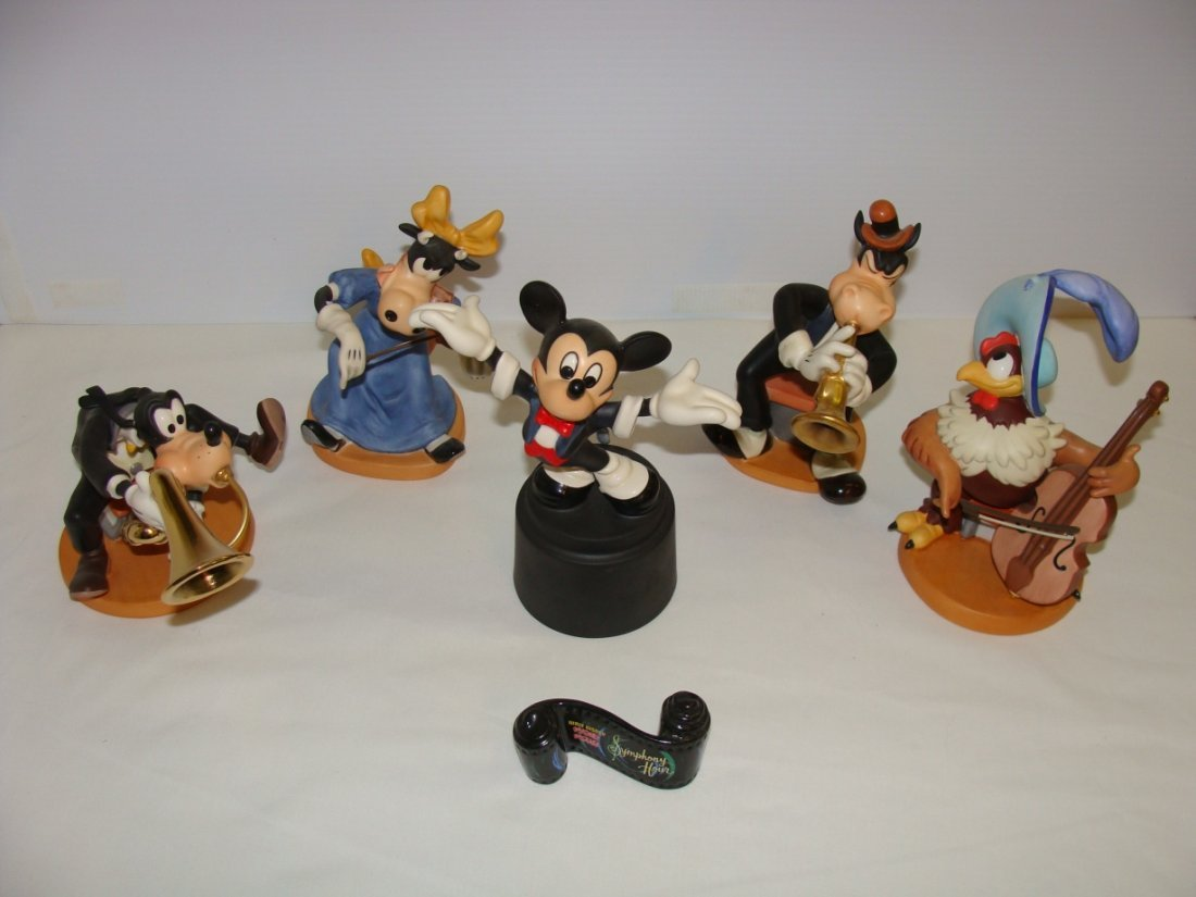 Mickey Mouse & 5 Other Symphony Hour Figures WDCC