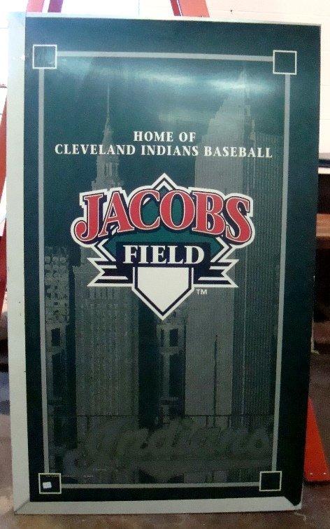 Original Jacob's Field Aluminum Display Sign