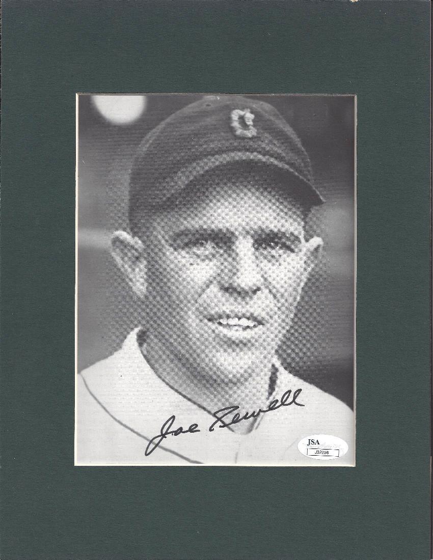 Joe Sewell Autographed 8x10 Matted Photograph, JSA