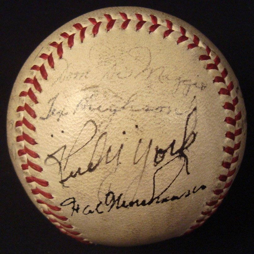 Early Boston Red Sox Multi-Signed Baseball, Williams