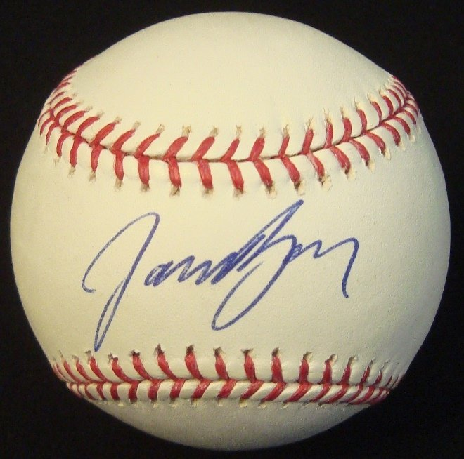 Jason Bay Single Signed MLB Baseball, JSA