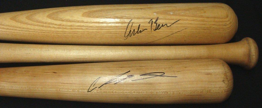 Lot of (3) Autographed Baseball Bats, Santana