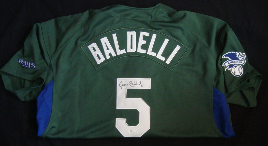 Rocco Baldelli Autographed Tampa Bay Devil Rays Jersey,
