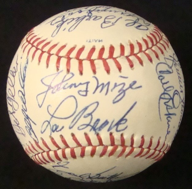 1990 All-Star Game Old Timers Signed Baseball