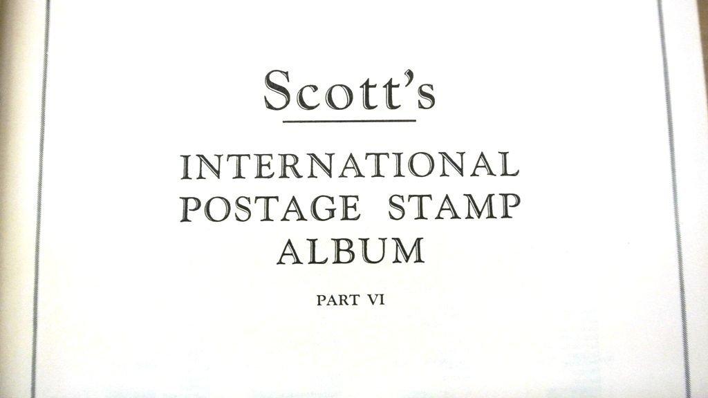 Scott International Album Part VI w/Stamps