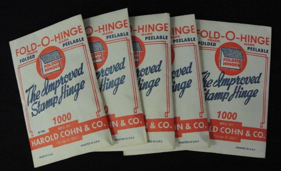 Five Packs of Harold Cohn Fold-O-Hinges