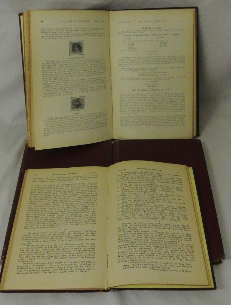 (4)Hardbound Volumes of Australian Philatelist