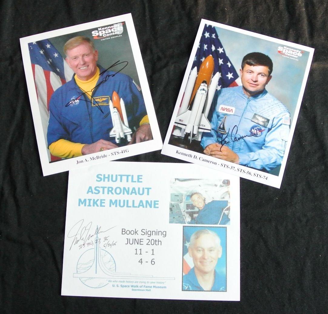 Space Shuttle Astronaut Autographs (3)