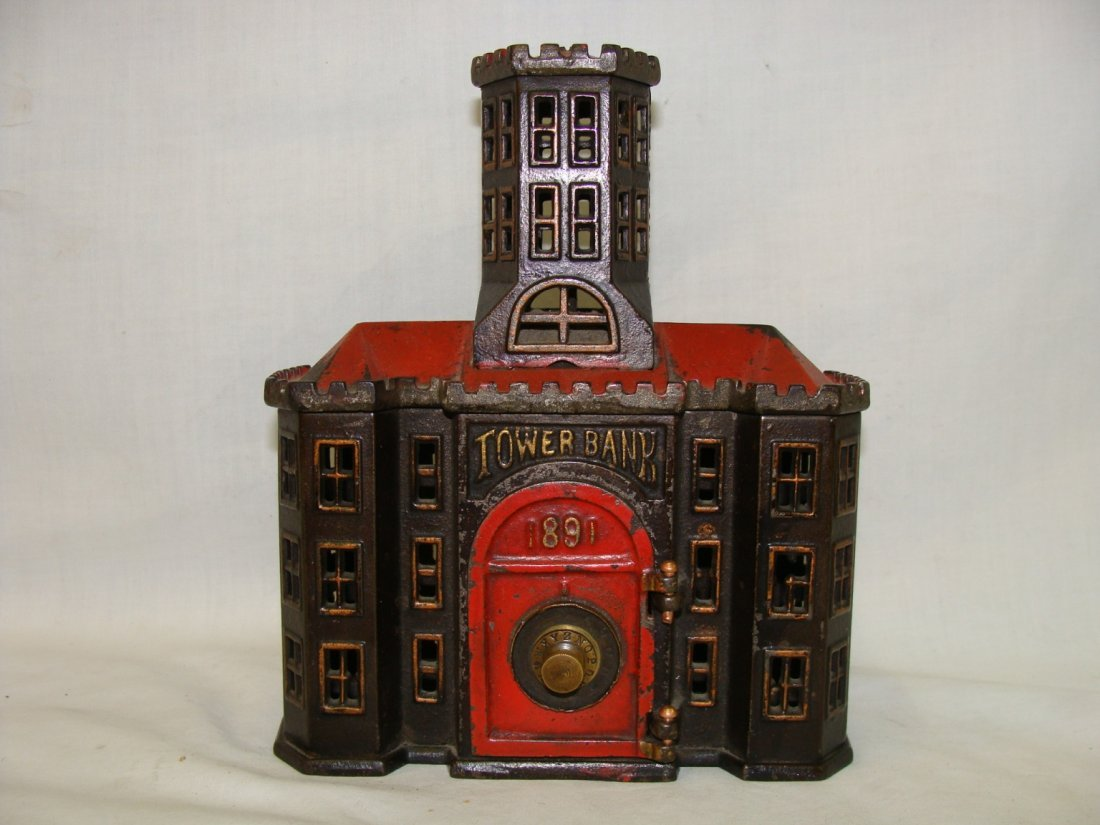 1891 Tower Bank Cast Iron 475 Bank