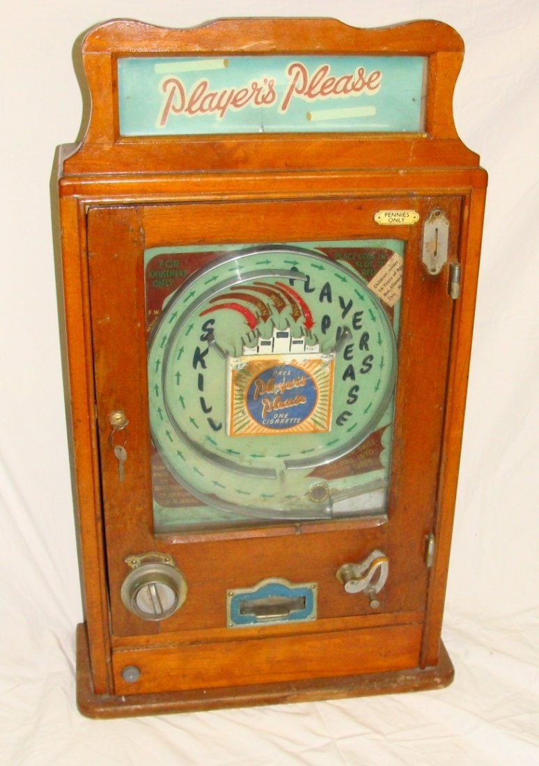 Players Please English Cigarette Skill Pinball Machine