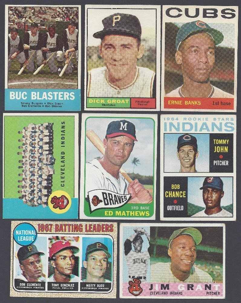 1960's Topps Baseball Card Lot, (75) Cards w Stars,