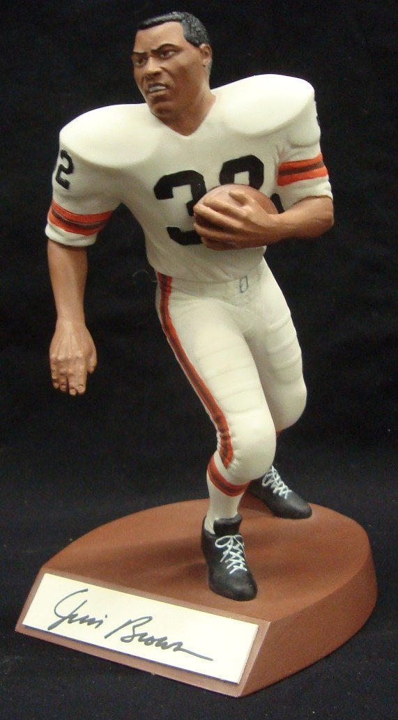 Jim Brown Autographed Limited Edition Salvino Statue