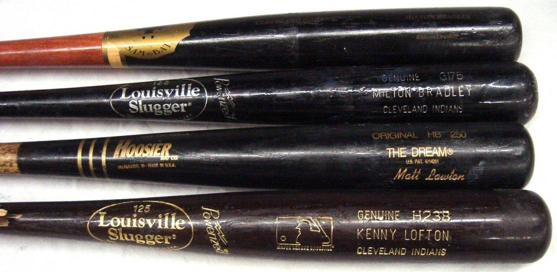 Cleveland Indians Game Used Baseball Bat Lot of (4), w