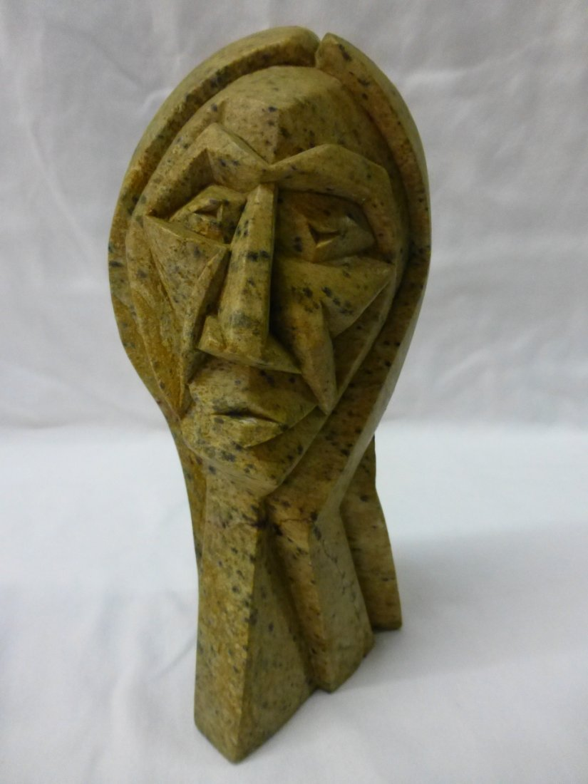 Carved Sculpture Indian Man by Cayuga Vince Bomberry