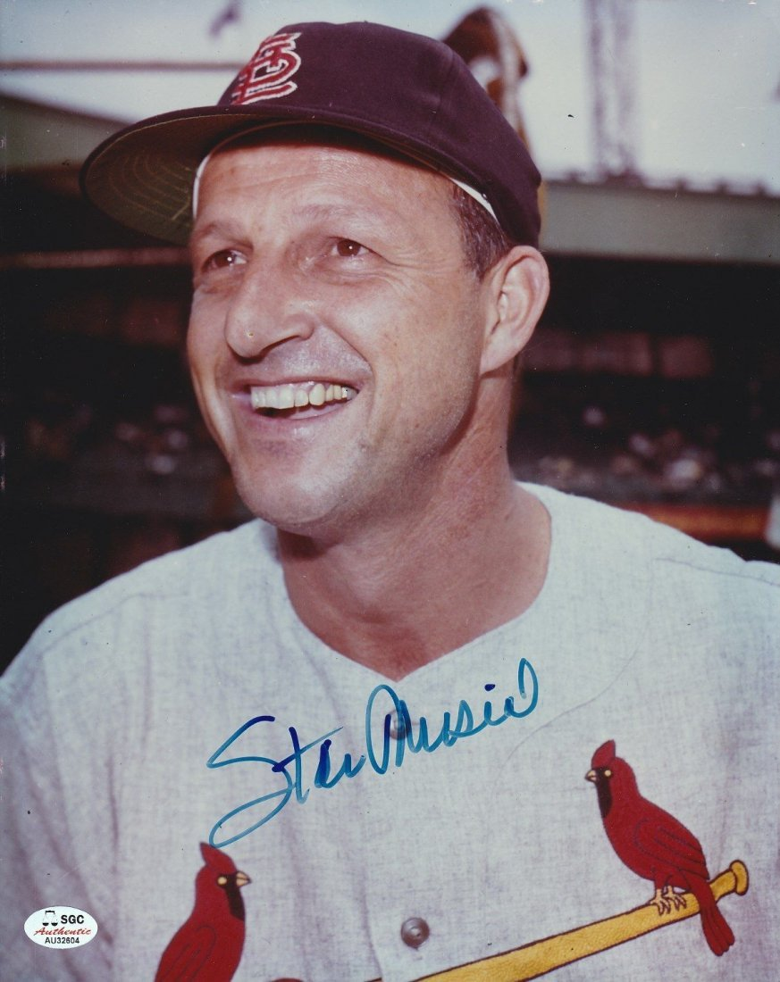 Stan Musial Pete Rose Autographed 8x10 Photographs