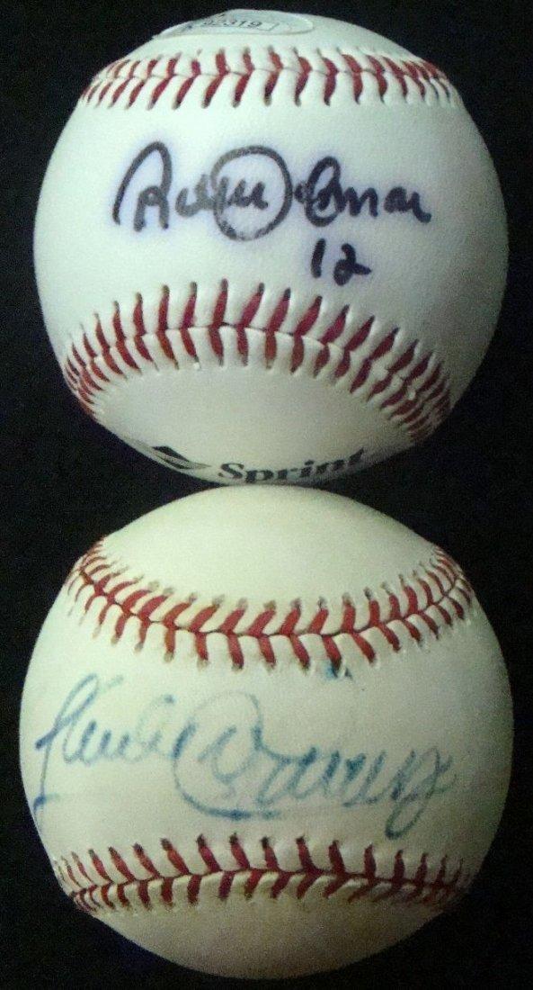 Sandy Alomar Roberto Alomar Autographed Baseball Lot
