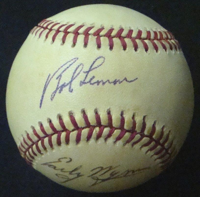 Cleveland Indians Stars Multi-Signed Baseball