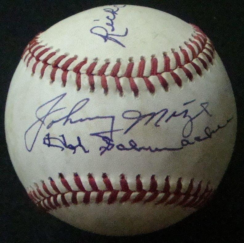 Baseball Stars Multi-Signed Baseball w Hall of Famers