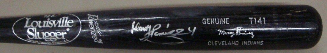 1990's Manny Ramirez Game Used Autographed Bat