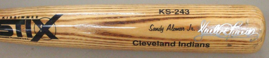 Sandy Alomar Game Used Autographed STIX Bat