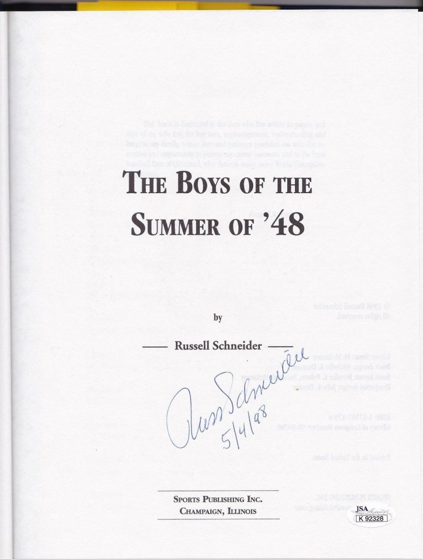 'The Boys of the Summer of '48' Multi-Signed Book w