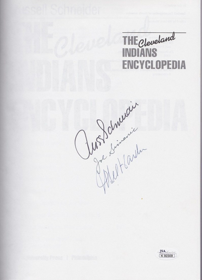 The Cleveland Indians Encyclopedia Signed by Mel Harder