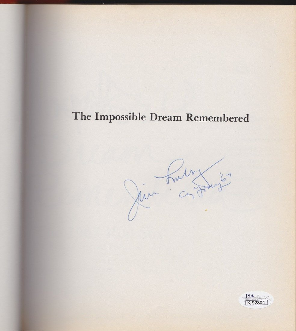 'The Impossible Dream Remembered' Signed by Jim Lonborg