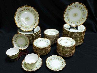 66 Piece China Set T&V Limoges DAISY Pattern