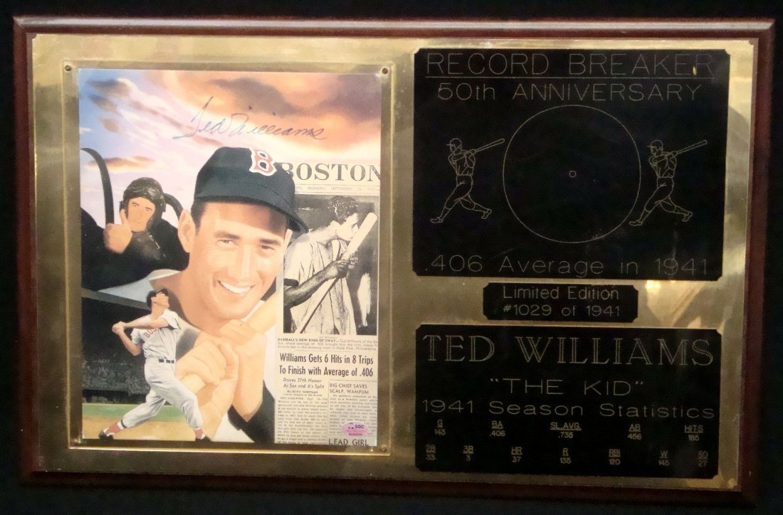 "Ted Williams Autographed 8x10 Photo ""Anniversary"""