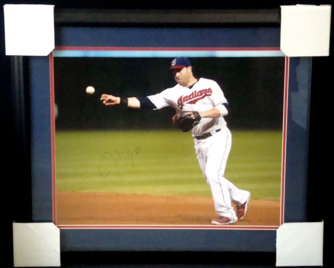 Jason Kipnis Autographed 16x20 Matted and Framed
