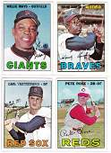 Lot of (4) 1967 Topps Star Cards, Mays - Aaron - Yaz -