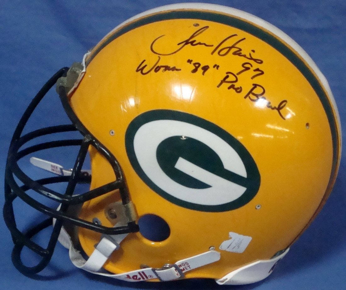 1989 Tim Harris Game Worn Signed Inscribed Packers
