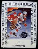 1987 Legends of Hockey Hall of Fame  Star Signed