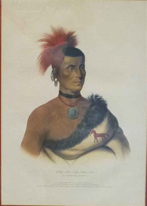 McKenney & Hall Pawnee Chief Pes-Ke-Le-Cha-Co 1841