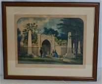 Tomb of Washington Currier Ives Print 152 Nassau St