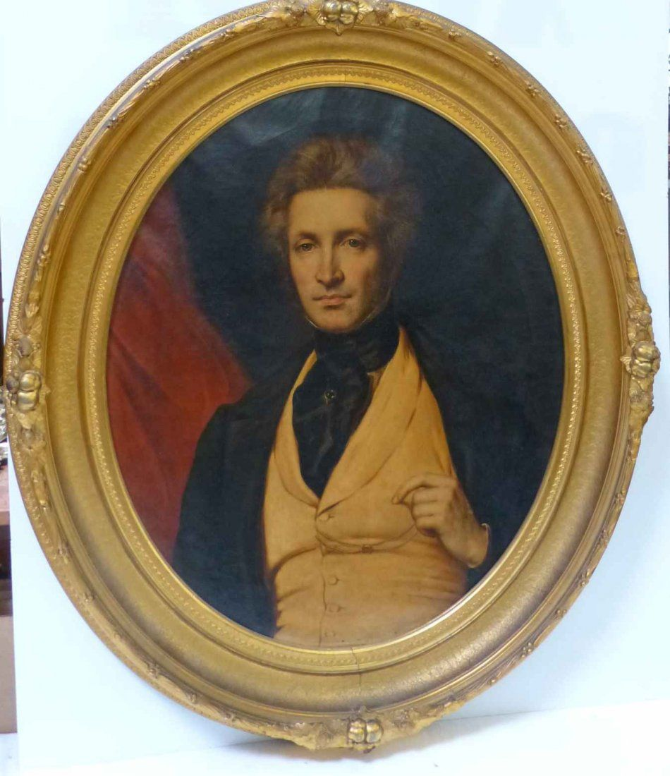 American School 19th c. Portrait of Distinguished
