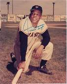 Willie Mays Autographed 8x10 Full Color Photograph