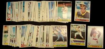 1979 Topps Baseball Card Lot, (600+) w Stars, Smith RC