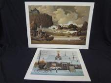 Charles Wysocki Signed and Numbered Lithographs: Belly