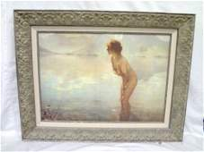 """Giclee on Canvas """"Young girl"""", Unknown Artist, Ornate"""
