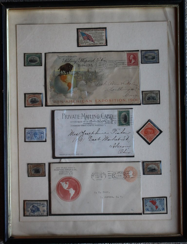1901 Pan-American Stamps and Covers Collage