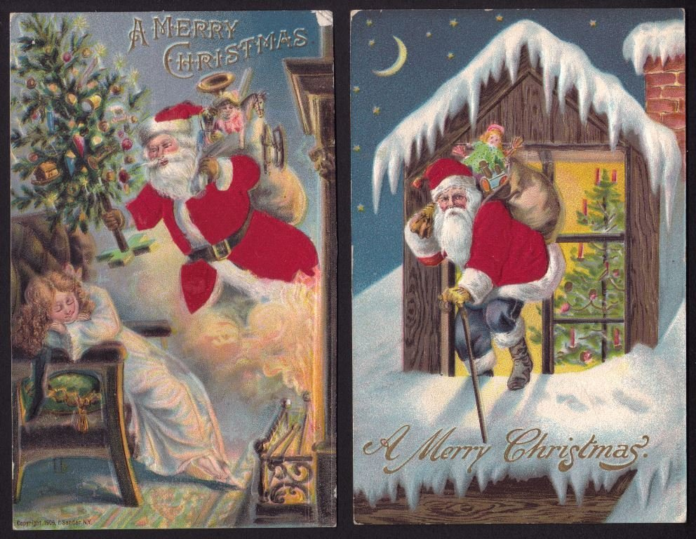 Outstanding Lot of Santa Claus Postcards