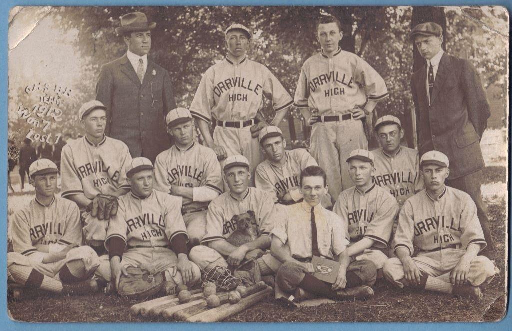 Early 20th c. Orrville Michigan Baseball Team Photo